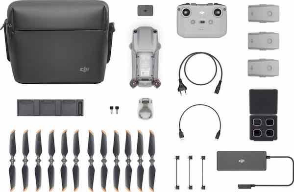 ¿que lleva la caja del dji air 2 s? filtros nd  3 baterias el vuela más